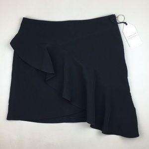 English Factory Black Ruffle Skirt NWT